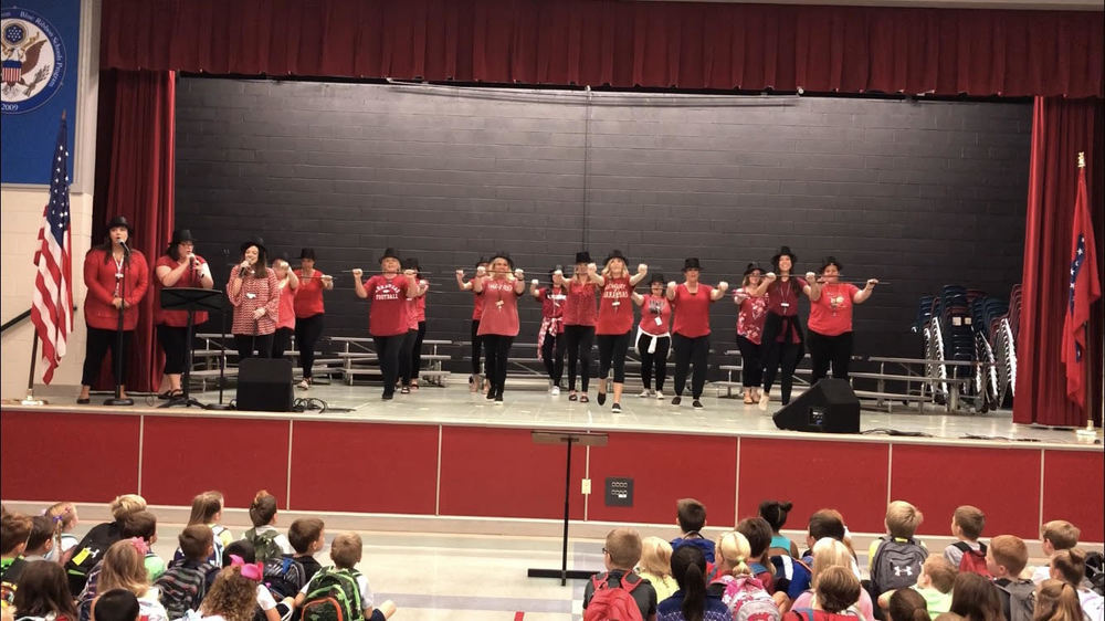 "Vandergriff Teachers Performance ""This is the Greatest School"""