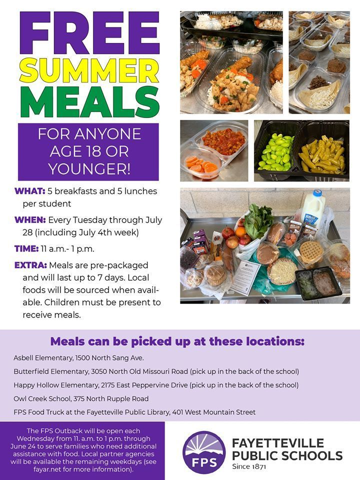 ​FREE SUMMER MEALS