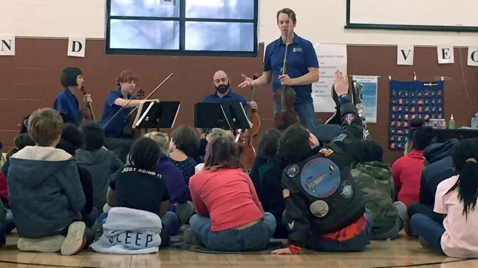 Arkansas Symphony Orchestra's Quapaw Quartet Brought Their Music Enrichment Project to Washington Students