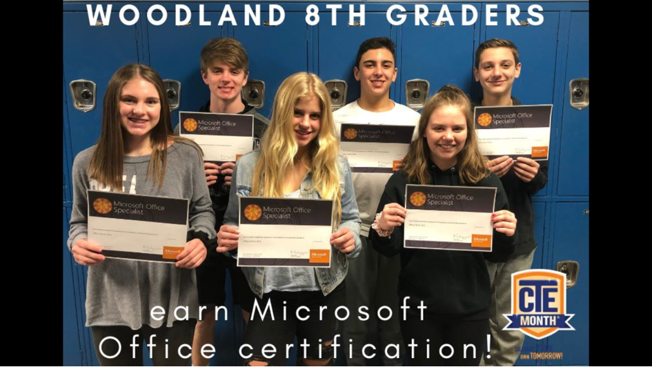 8th Graders Earn Microsoft Office Certification