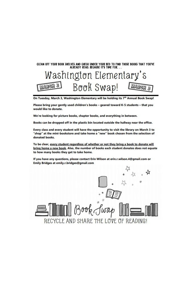BOOKS NEEDED FOR MARCH 3RD BOOK SWAP