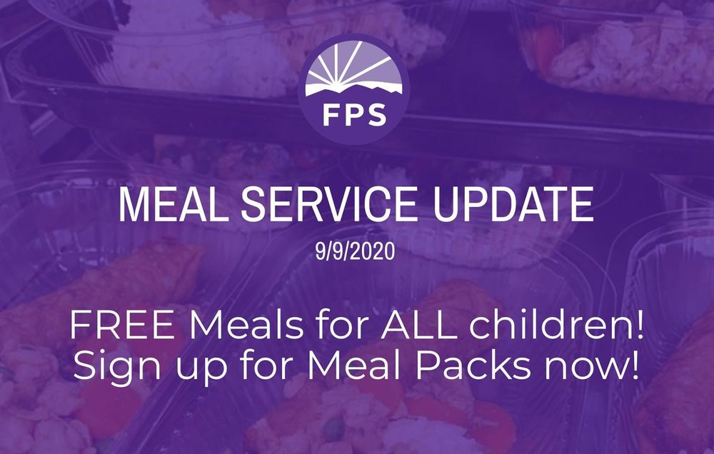 FREE MEALS FOR ALL CHILDREN  until December 31.