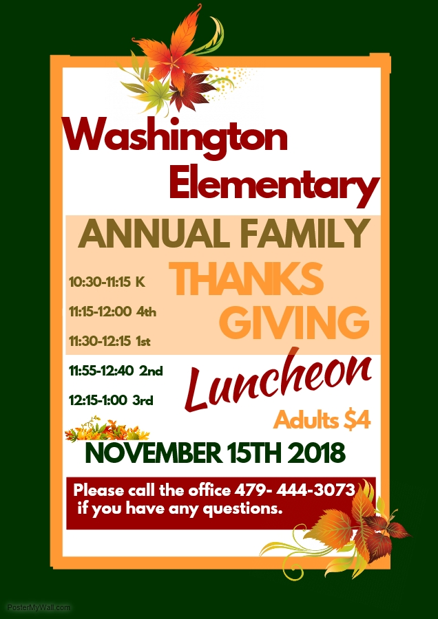 Washington Annual Family Thanksgiving Luncheon
