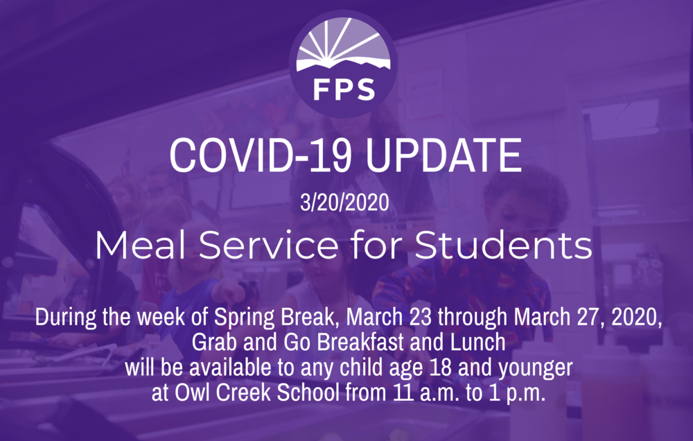 School Meals Available for Students During Spring Break