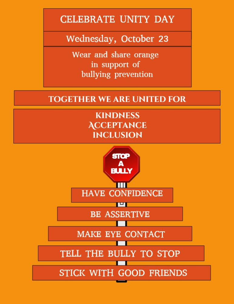 Celebrate Unity Day, October 23 by Wearing Orange