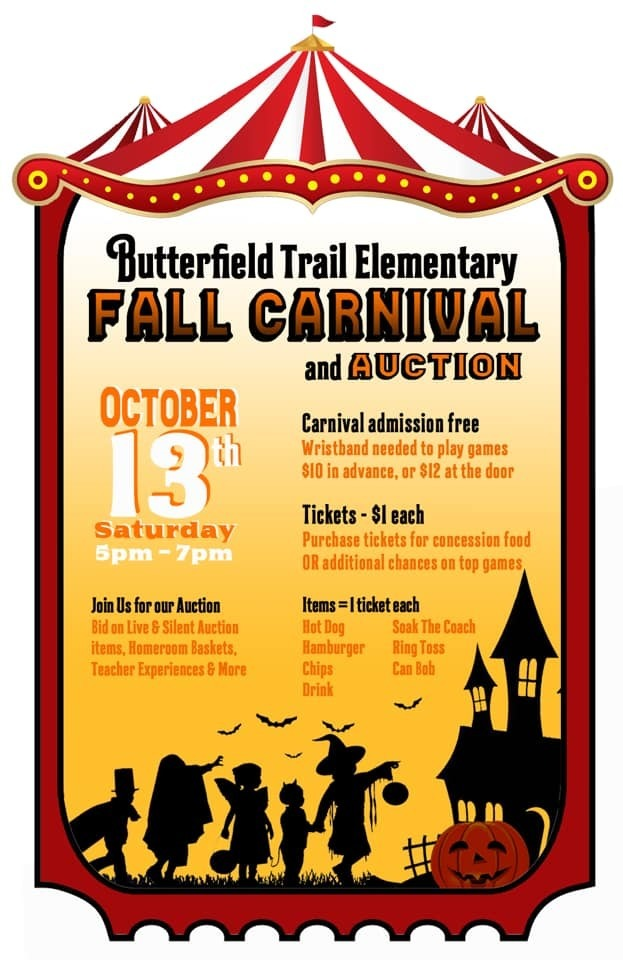 October 13th is the Fall Carnival!!! 5-7 pm