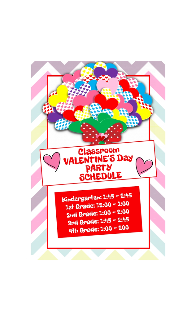 CLASSROOM VALENTINE'S DAY PARTY SCHEDULE