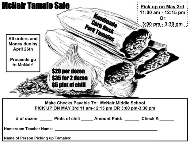 McNair Tamale Sale