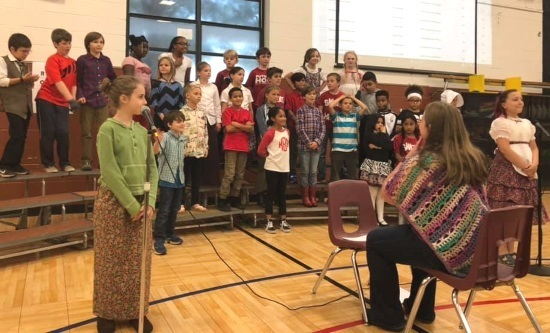 Moments from 4th Grade Music Program and Art Show