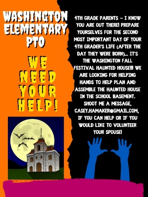 PTO Needs Help with the Haunted House