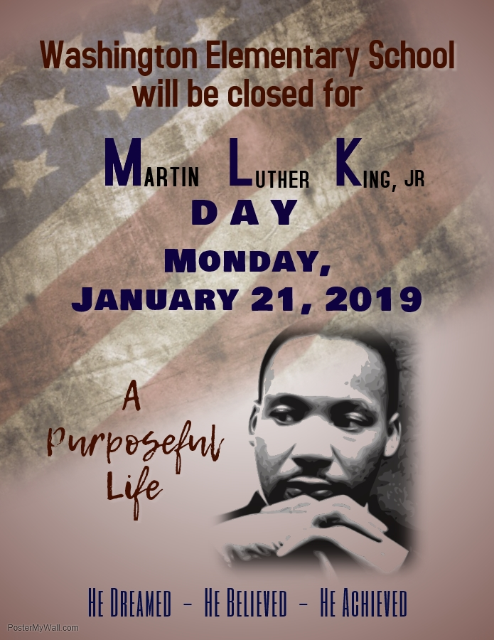 Martin Luther King, Jr Day - School Closed