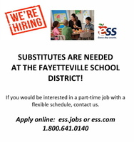 The District is in Need of Substitute Teachers