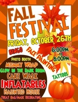 Attend the Fall Festival, Oct. 26th 6-8 pm
