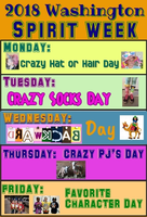 SPIRIT WEEK -  - Friday is Dress as your Favorite Character Day