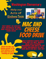 Help our Random Acts of Kindness team collect boxes of Mac and Cheese Food Drive