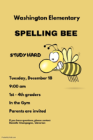 2018 SPELLING BEE - Dec 18    9:00 am
