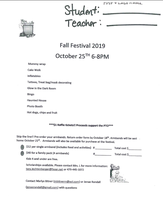 Pre-order your armbands for the Fall Festival!