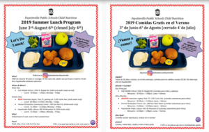 2019 Summer Lunch Program