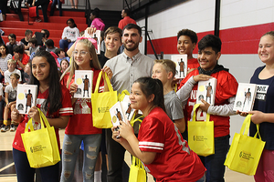 "Students at Ramay and Woodland Jr. High Schools received a copy of ""The Crossover,""  a book by national award-winning author Kwame Alexander."