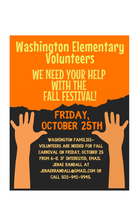 Volunteers needed for the Fall Festival - October 25 Contact Jenae Randall if you can help!! email Jenae Randall at jenaerandall@gmail.com or call 501-941-9945.