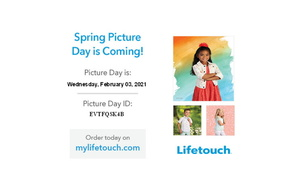 MARK YOU CALENDARS!!  SPRING PICTURES FEB 3
