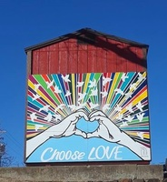 Washington Students Create Choose Love Mural