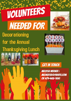 Volunteers needed for Washington's Annual Thanksgiving Luncheon