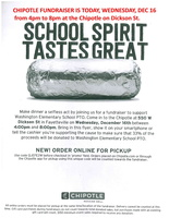 PTO CHIPOTLE FUNDRAISER WEDNESDAY, DEC 16