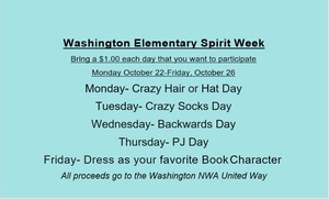 Washington Elementary Spirit Week