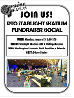 PTO's Annual Starlight Skatium Social and Fundraiser