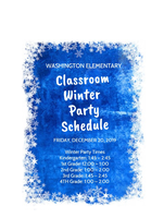 WINTER PARTY SCHEDULE
