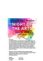 1st & 2nd Grades Night of the Arts