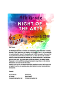 "4th Grade ""Night of the Arts"" November 5th  6:30 - 7:30"