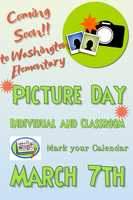 March 7th is Individual and Classroom Pictures