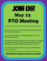 PTO May Meeting - May 13