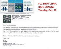 Our school is offering free Flu Shots on October 30