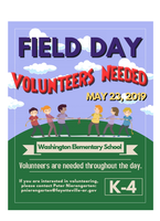 FIELD DAY VOLUNTEERS NEEDED - May 23