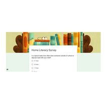 Parents - Please Take this Literacy Survey