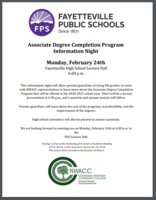 Associate Degree Completion Program  Information Night