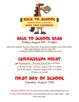 Butterfield Back to School