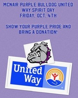 McNair Purple Bulldog United Way Spirit Day