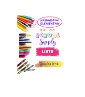 2020-2021 WASHINGTON ELEMENTARY  SUPPLY LISTS