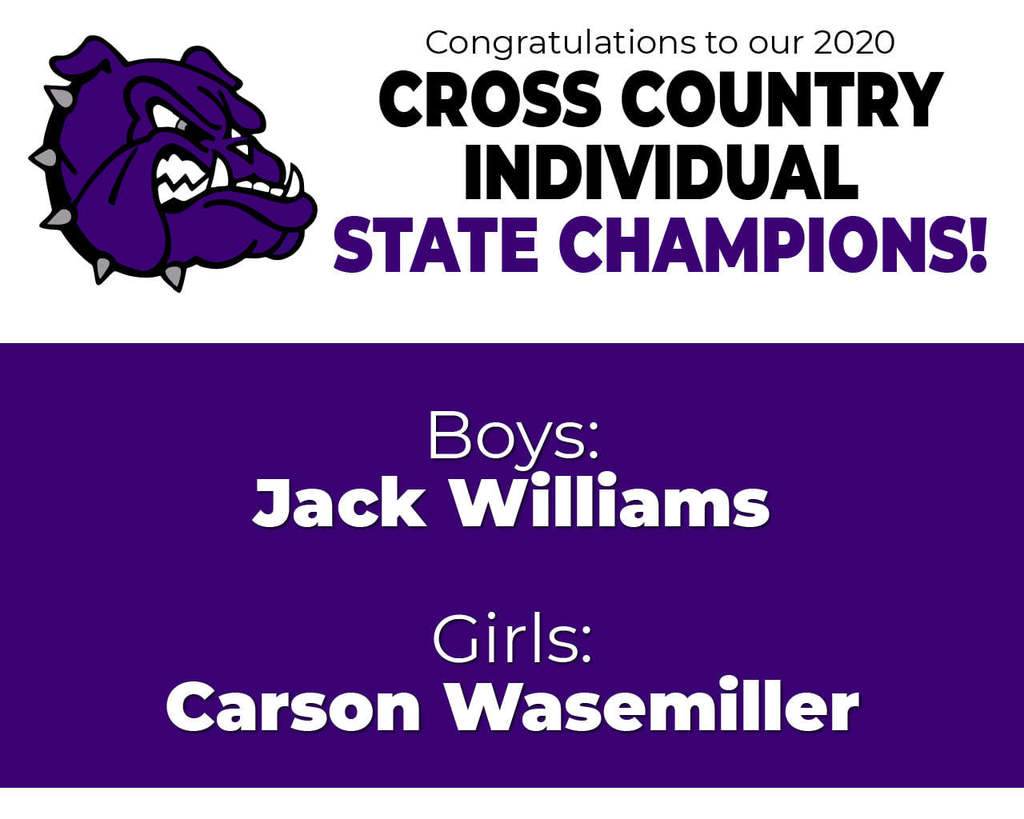 Congratulations to Fayetteville High School Cross Country Individual State Champions Jack Williams and Carsen Wassemiller!