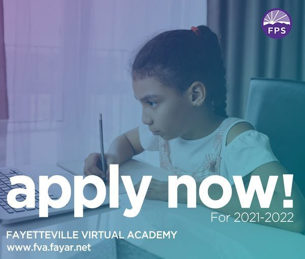 If you are considering Fayetteville Virtual Academy for your child for the 2021-22 school year, FVA will hold parent meetings nights via Zoom at 6 p.m. on February 16, March 16, and April 12. More information will be coming soon here and at the FVA website: https://district.fayar.net/o/fva