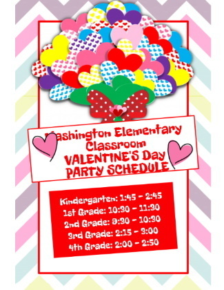valentine party schedule