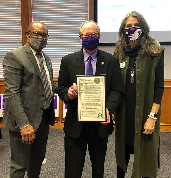 Thank you to Mayor Lioneld Jordan for presenting a proclamation from the City of Fayetteville in recognition of 150 Years of Fayetteville Public Schools! Thank you, Mr. Mayor, for your unwavering support of our students and staff!