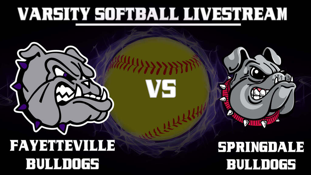 Fayetteville Bulldog Varsity Softball vs. Springdale Livestream TODAY!  @ 5:00 p.m. https://www.youtube.com/channel/UCXEhkF11XQluDIGsYKxko0Q OR the Fayetteville Bulldog Athletics App!