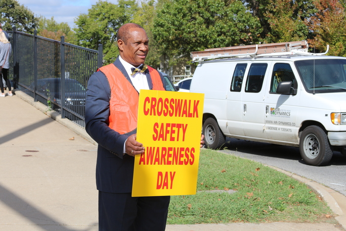 Today is Crosswalk Safety Awareness Day in Arkansas! The annual event aims to remind both pedestrians and motorists to slow down and look before walking or driving through a crosswalk.