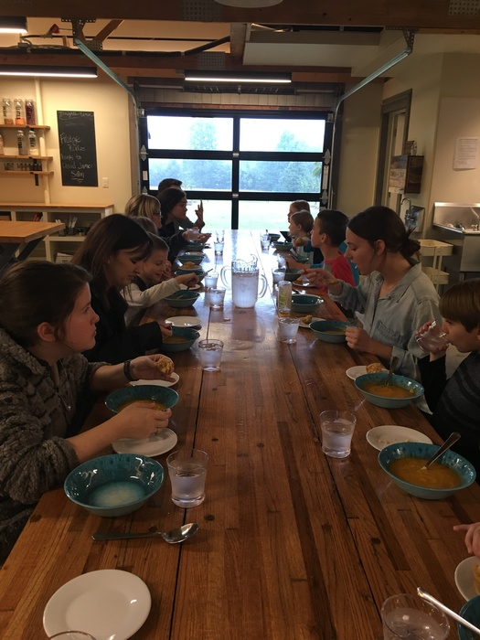 Our 4th and 5th grades were treated to another great experience at @appleseedsnwa! They learned about healthy food choices and prepared their own meal.