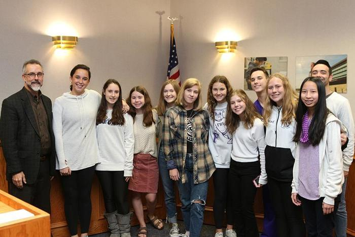 The Woodland Jr. High Round-Up yearbook staff received a Recognition of Outstanding Achievement Award for receiving a Gold Medal Critique from the Columbia Scholastic Press Association. #onefps
